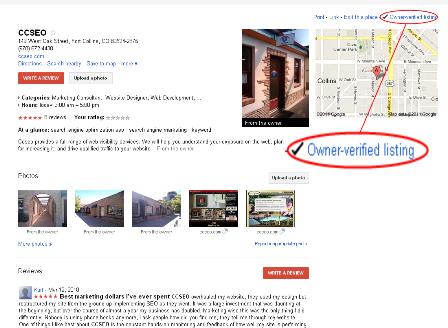 CCSEO Google Places Page