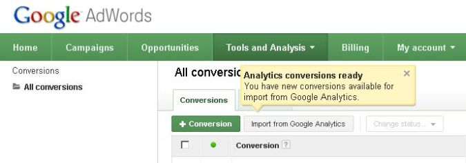 Adwords: Importing Analytics Goals - Renaming Error